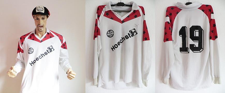 Eintracht Frankfurt Trikot Matchworn Höchst 1990