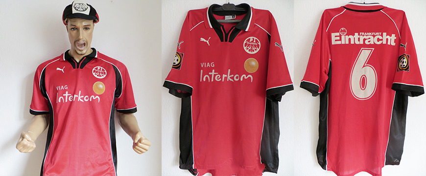 Eintracht Frankfurt Trikot Matchworn Via Interkom Frank Gerster 1998