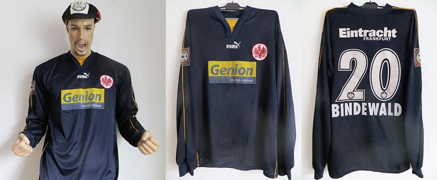 Eintracht Frankfurt Trikot Uwe Bindewald Matchworn Genion 2004