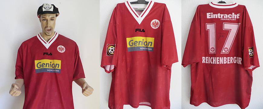 Eintracht Frankfurt Trikot Reichenberger Matchworn Genion 2004