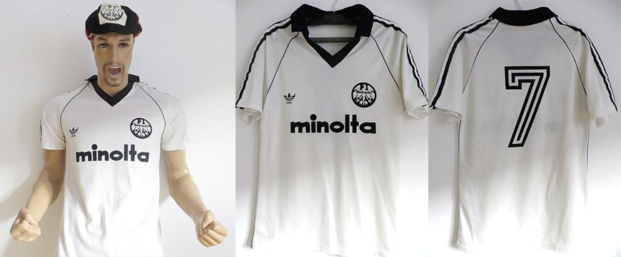 Trikot Eintracht Frankfurt Bernd Hölzenbein Matchworn Minolta 1980