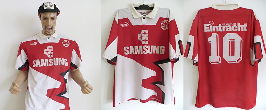 Trikot Eintracht Frankfurt Uwe Bein Matchworn Samsung 1992