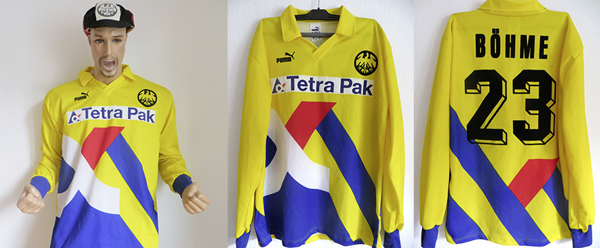 Trikot Eintracht Frankfurt Jörg Böhme Matchworn Tetra Pak 1995