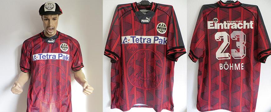 Trikot Eintracht Frankfurt Jörg Böhme Matchworn Tetra Pak 1994