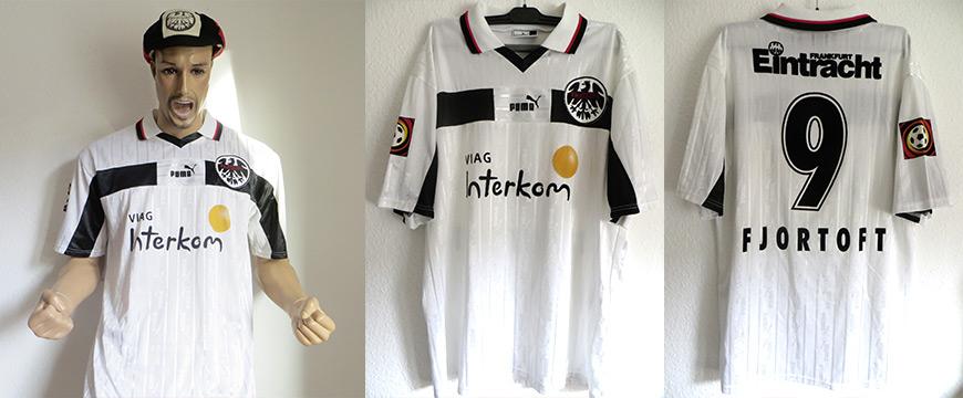 Trikot Eintracht Frankfurt Jan Aage Fjörtoft Matchworn Via Interkom 1999