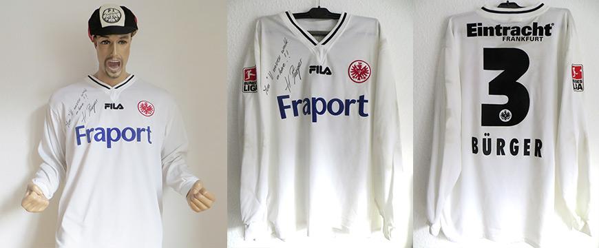 Trikot Eintracht Frankfurt Henning Bürger Matchworn Fraport 2003