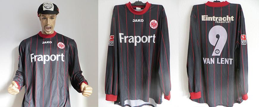 Trikot Eintracht Frankfurt Arie van Lent Matchworn Fraport 2004
