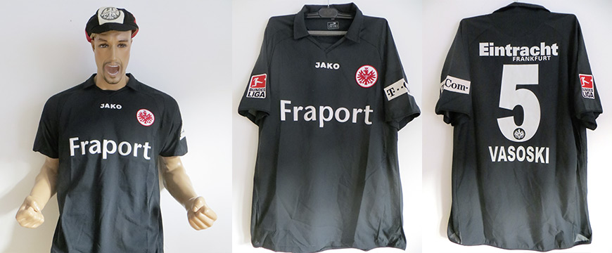 Trikot Eintracht Frankfurt Vasoski Matchworn Fraport 2007