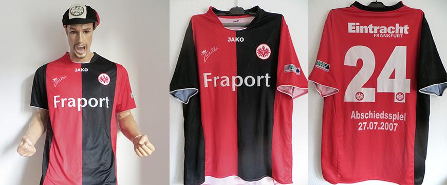 Trikot Eintracht Frankfurt Alex Schur Matchworn Fraport 2012