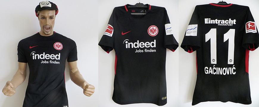Trikot Eintracht Frankfurt Mijat Gacinovic Matchworn indeed 2017