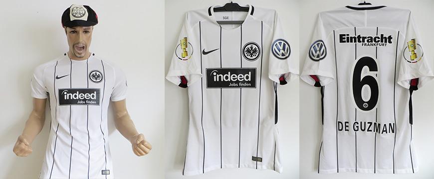 Trikot Eintracht Frankfurt De Guzman Matchworn indeed 2017