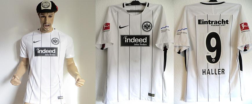 Trikot Eintracht Frankfurt Sebastian Haller Matchworn indeed 2017