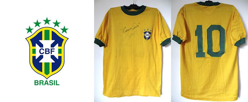 Trikot Matchworn Pele Brasilien Edson Arantes do Nascimento 1971