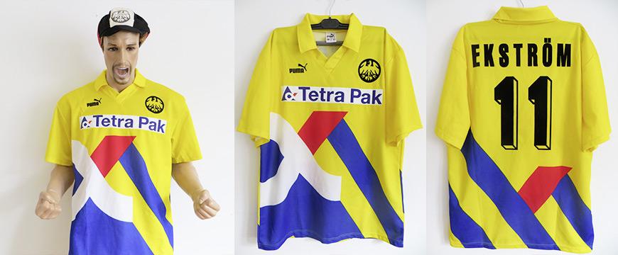 Matchworn Trikot Jonny Ekström Eintracht Frankfurt Tetra Pak
