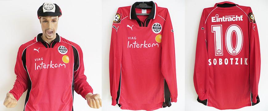 Matchworn Trikot Thomas Sobotzik Eintracht Frankfurt