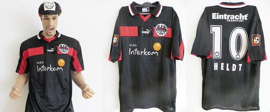 Matchworn Trikot Horst Held Eintracht Frankfurt