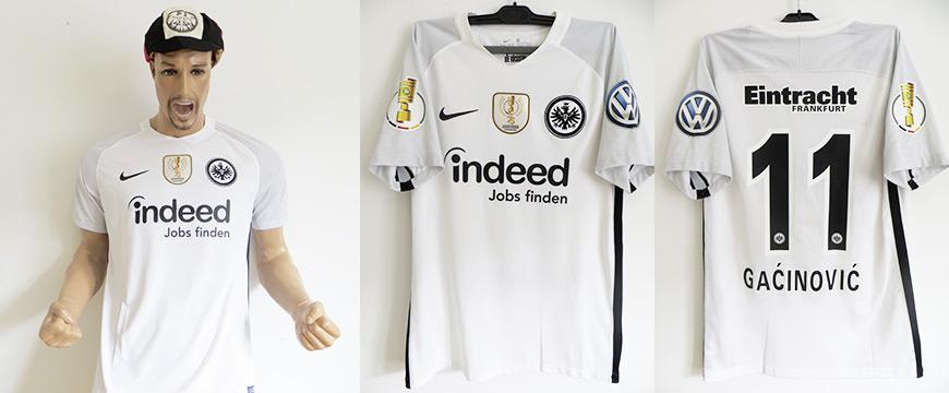 Matchworn Pokalsieger Trikot Mijat Gacinovic DFB Pokalfinale 2018 Eintracht Frankfurt - Bayern München